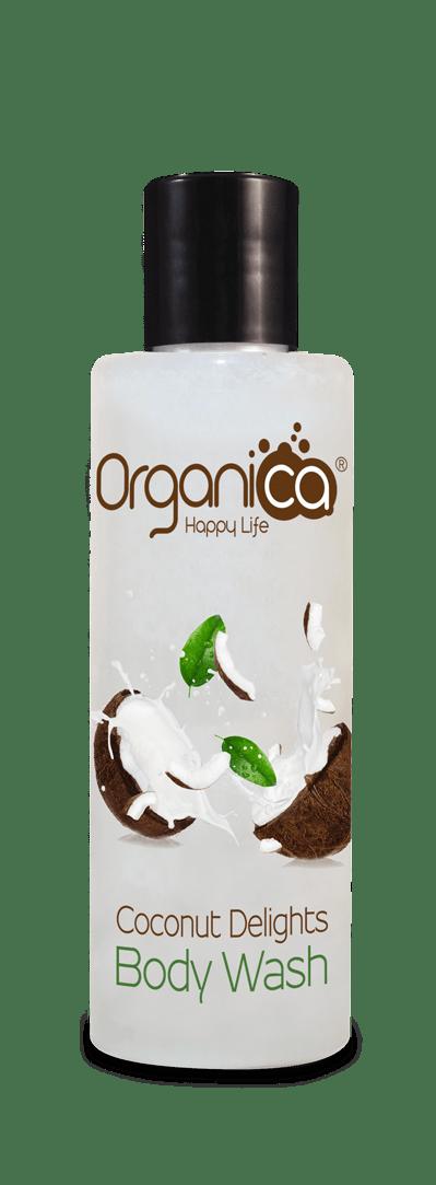 תחליב רחצה קוקוס טבעי 200 מל אורגניקה Organica Coconut