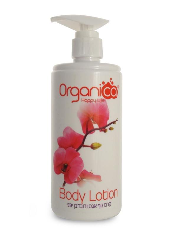 קרם גוף טבעי בריח בושם אגס דובדבן יפני אורגניקה Organica