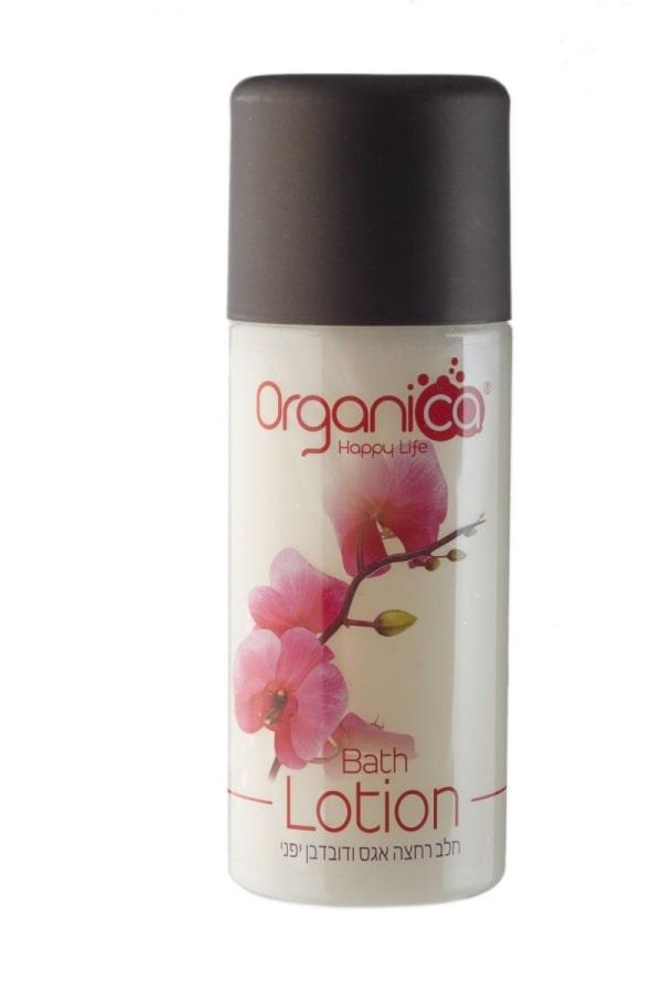 תחליב רחצה טבעי בריח בושם אגס דובדבן יפני אורגניקה Organica